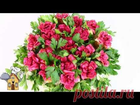 """Праздничный салат """"Миллион алых роз""""!     2 в 1-салат + закуска"""