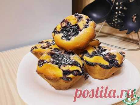Кексы на кефире с черникой Кулинарный рецепт