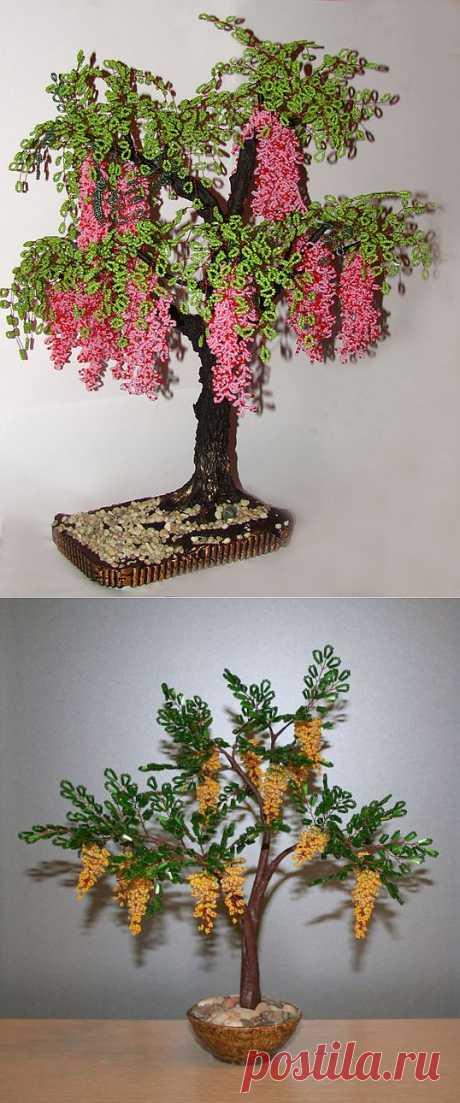 Мастер-класс цветы и деревья из бисера | Записи в рубрике Мастер-класс цветы и деревья из бисера | Домашнее рукоделие: амигуруми, бисер и другое