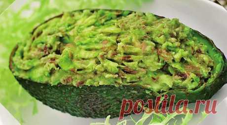 Салат из авокадо с тунцом, пошаговый рецепт с фото