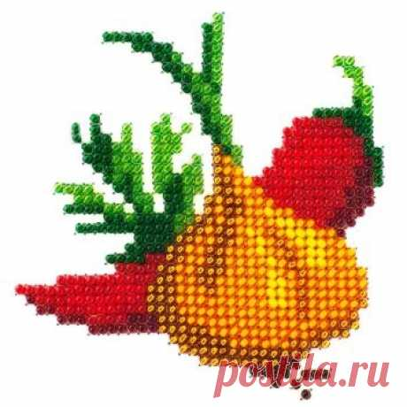 Цибуля і перець L-499 / Луїза / Набори для вишивки бісером / Вишивання на Zinzilin.com