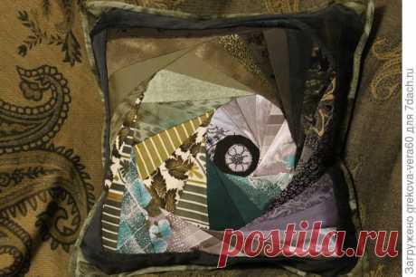 Подушка в машину своими руками. Лоскутное шитье. Мастер-класс с фото