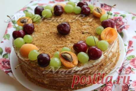 Торт «Рыжик», классический рецепт, пошагово с фото