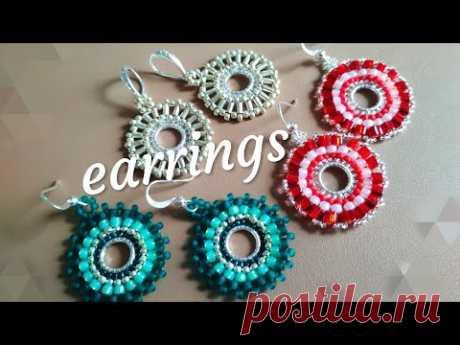 Earrings. Летние сережки. МК