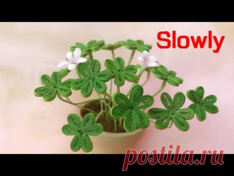 ABC TV | How To Make Clover Plant Paper (Slowly) | Quilling Paper - Craft Tutorial
