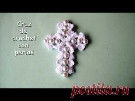 DIY - Cruz a crochet con perlas DIY - Cruz a crochet con perlas