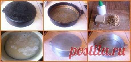 Волшебный способ очистки старой сковороды — Полезные советы
