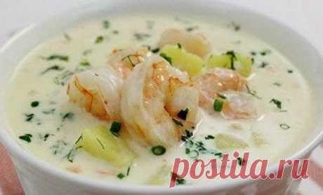 Как приготовить сырный суп с креветками - рецепт, ингредиенты и фотографии