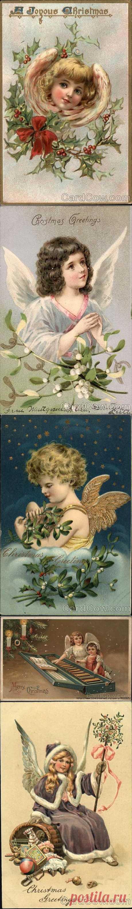 Рождественские ангелы со старых открыток-2.