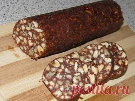 Как приготовить шоколадная колбаска - рецепт, ингридиенты и фотографии