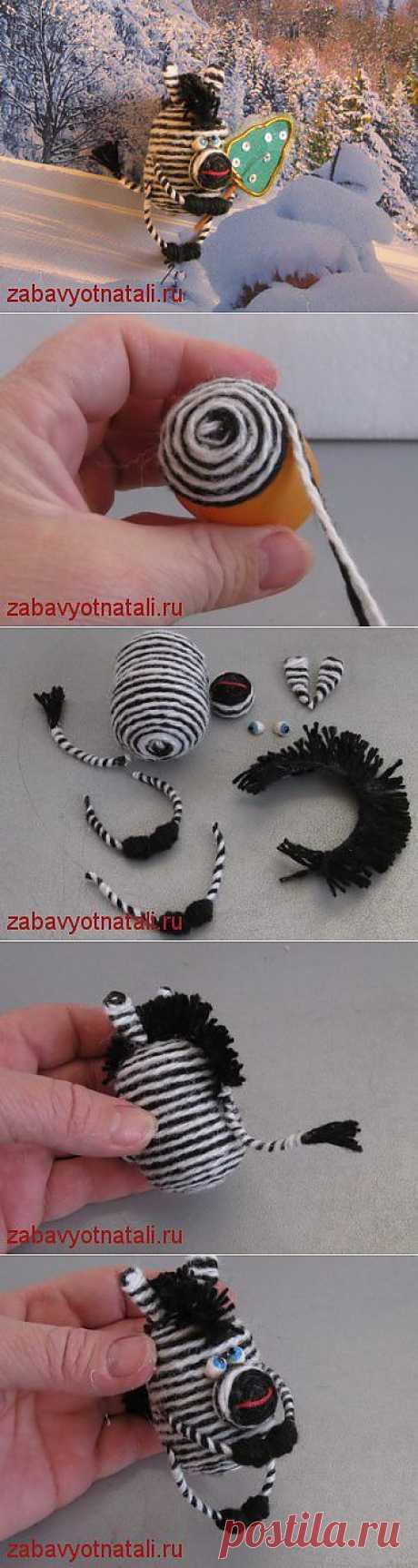 Зебра из киндер-сюрприза | Забавы от Натальи