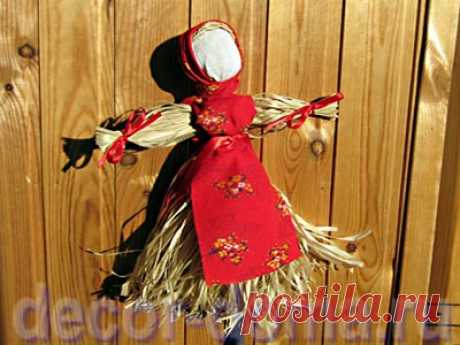 Масленица - кукла из лыка, мастер-класс