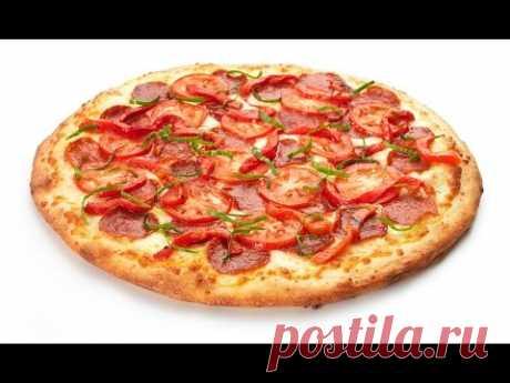 Вкуснейшая Пицца с колбасой и сыром