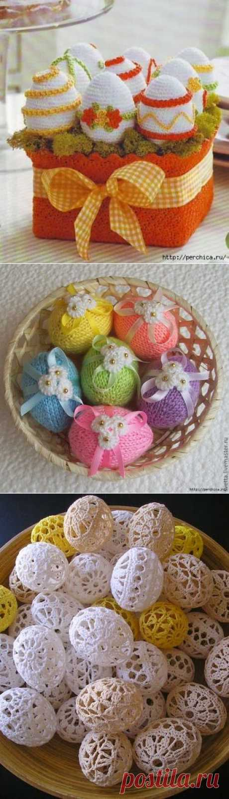 Knitted decor of Easter eggs - mk and schemes.