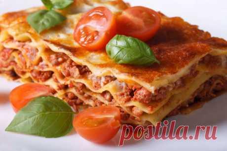Лазанья классическая с мясом — Sloosh – кулинарные рецепты