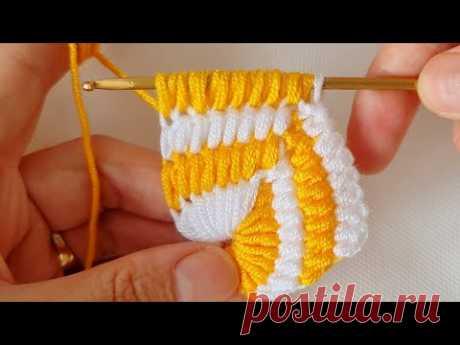 Super Tunisian Knitting krochet örgü modeli