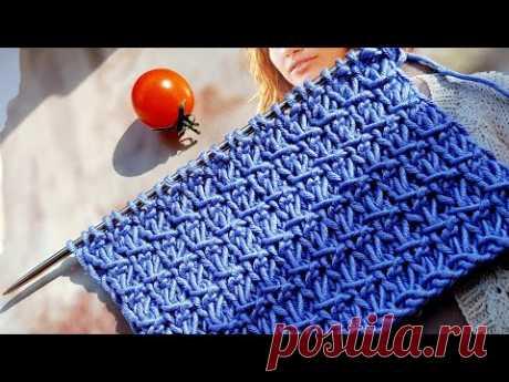 Эффектный плотный узор спицами. Готовимся к холодам.🙋♀️ knitting pattern.