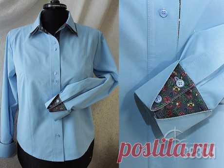 [Шитье] Манжета с отворотом и шлица на рукаве рубашки. Неповторимый шарм! Мастер-класс