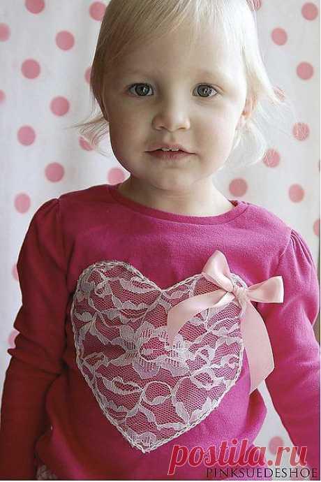 Декор кружевом детской майки / Для детей / Модный сайт о стильной переделке одежды и интерьера