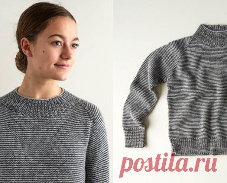 Вязаный свитер SimpleStripe   ДОМОСЕДКА