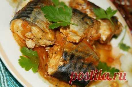 Рецепт скумбрии, тушеной с морковью и луком.    Скумбрия - очень пикантная рыбка, из которой можно приготовить очень много вкусных блюд. Хочу предложить Вам рецепт скумбрии, тушеной с луком и морковью. Получается лёгкое и вкусное блюдо. На гарнир советую отварной рис.    Для приготовления скумбрии, тушеной с луком и морковью, понадобится:  скумбрия - 2 шт.;  соль и специи - по вкусу;  репчатый лук - 1 шт.;  морковь - 1 шт.;  растительное масло для жарки;  томатная паста - ...