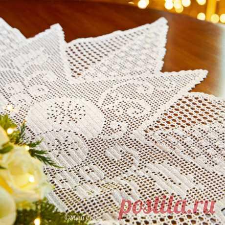 фрагмент салфетки Рождественская звезда
