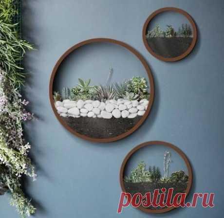 Оригинальные настенные горшки для цветов — DIYIdeas