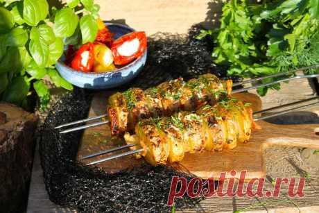 Картошка с салом на шампурах на мангале рецепт с фото пошагово - 1000.menu