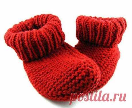 Удобные носочки-тапочки спицами из категории Интересные идеи – Вязаные идеи, идеи для вязания