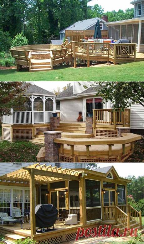 Красивая терраса на даче: 40 проектов для террасы к дому