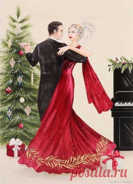 Рождественско-новогодние праздники в стиле Арт-Деко от CLAIRE COXON | Женский образ