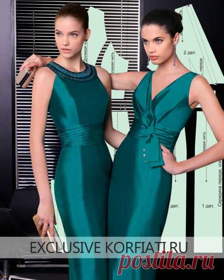 Выкройка праздничного платья от Анастасии Корфиати Сшить это фееричное атласное платье должна каждая женщина. Моделирование несложное, но трудоемкое. А результат того стоит! Ведь выкройка праздничного платья