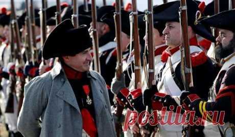 Реконструкции битвы 1805 года под Аустерлицем . Тут забавно !!!