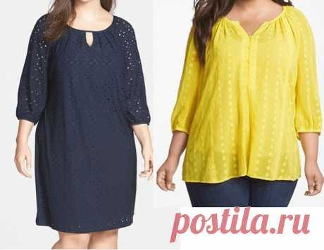 """Блузка, туника или платье """"plus size"""" по одной выкройке, на размеры с 48 по 62"""