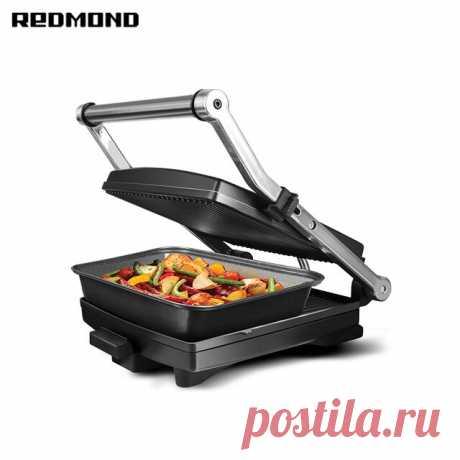 Гриль-духовка REDMOND Steak&Bake RGM-M803P С данным товаром уже совершено: 2643 заказа(ов);           Характеристики товара                                        Неприлипающий материал:                         Тефлон...