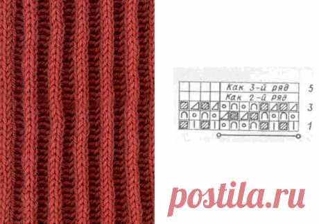 Английская резинка спицами схема вязания для начинающих