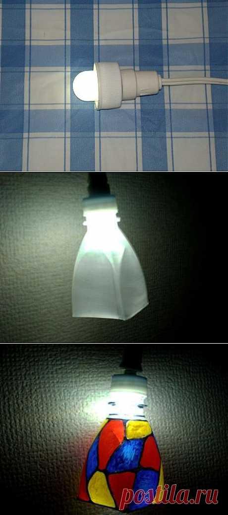 (+1) - Светильник из пластиковой бутылки. | МАСТЕРА