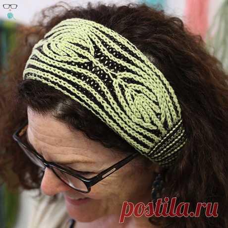 Unapologetic Knitter Vintage Vanity Brioche Headband Knitting Pattern PDF