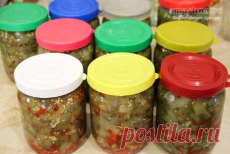 Острые баклажаны на зиму без стерилизации - рецепт с чили и чесноком