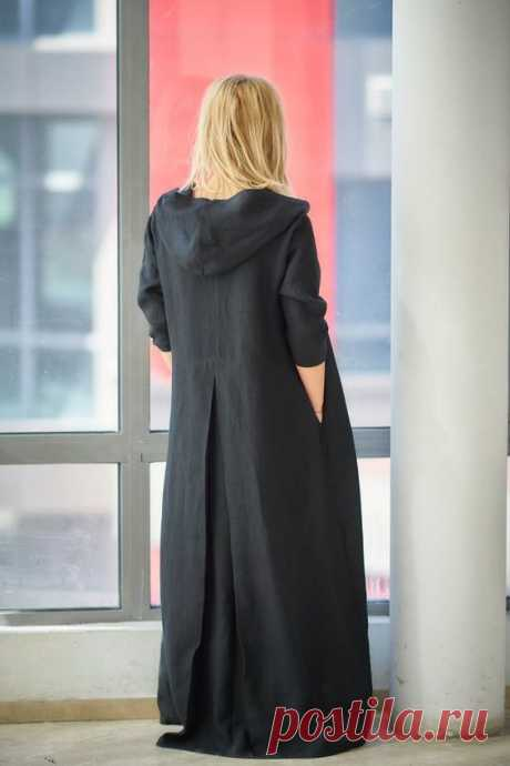 Black Linen Dress, Plus Size Linen, Caftan Dress ♠ Casual style with extravagant touch ideal for your provocative nature. The delicately crafted pieces from natural materials will embrace your body in…