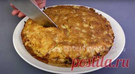 Еще раз убедилась, что чем проще, тем вкуснее: просто насыпаю и запекаю (мой любимый пирог из сухого теста с яблоками) | Кухня наизнанку | Яндекс Дзен