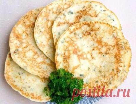 Сырные лепешки с зеленью  Ингредиенты:  Сметана 15-20% - 300 г Показать полностью…