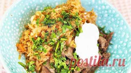 Тушеная капуста - постный рецепт
