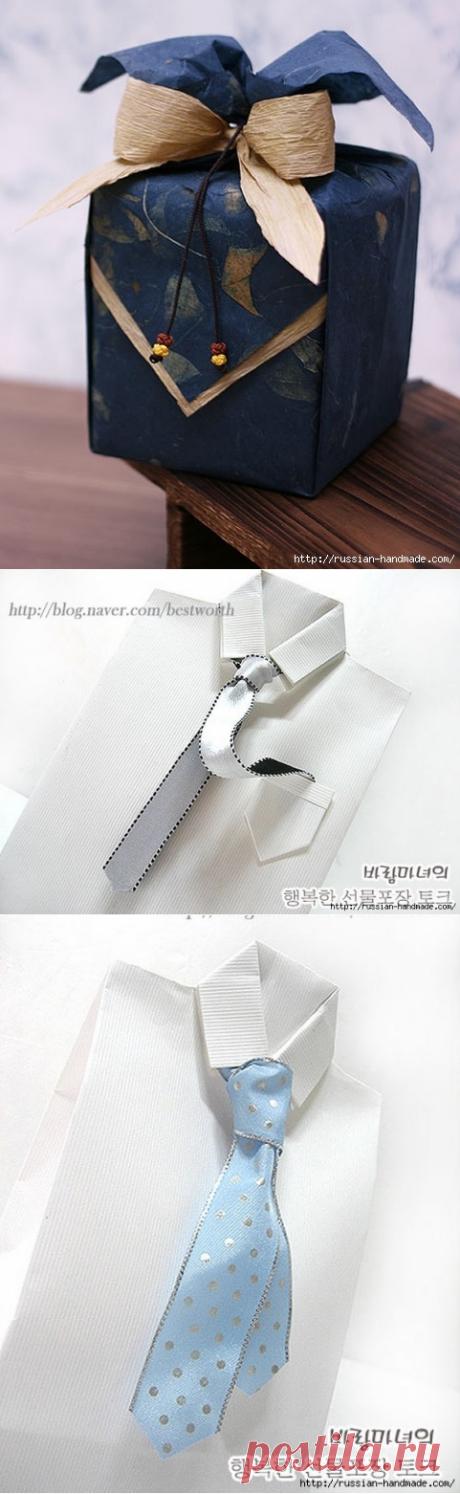 Упаковка подарков для мужчин. Мастер-классы