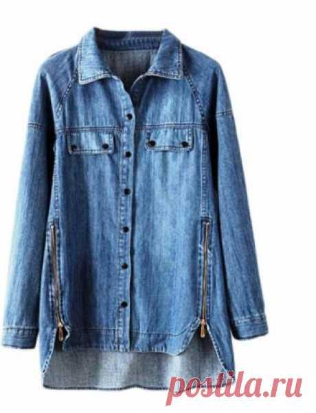 Джинсовые рубашки - идеи для переделки (подборка)