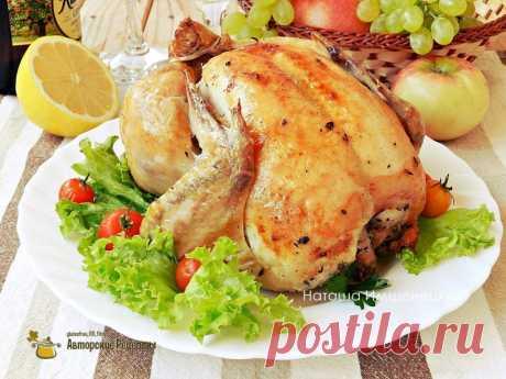 Запеченный цыпленок с тимьяном и лимоном -неповторимый вкус и аромат! Сочная и аппетитная!