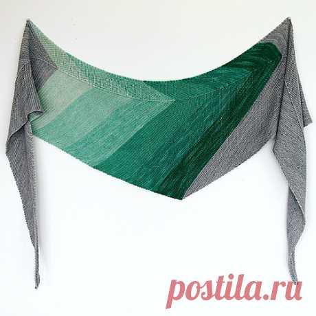 Вязание - моя страсть и мой мир: Треугольные шали с углом