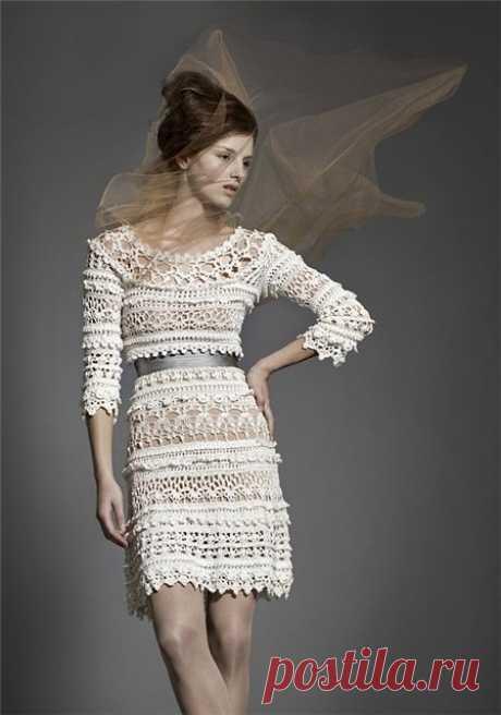 Красивое ажурное платье из категории Интересные идеи – Вязаные идеи, идеи для вязания