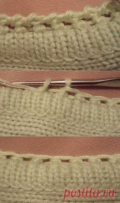Knitting lessons... processing of edge... master class....