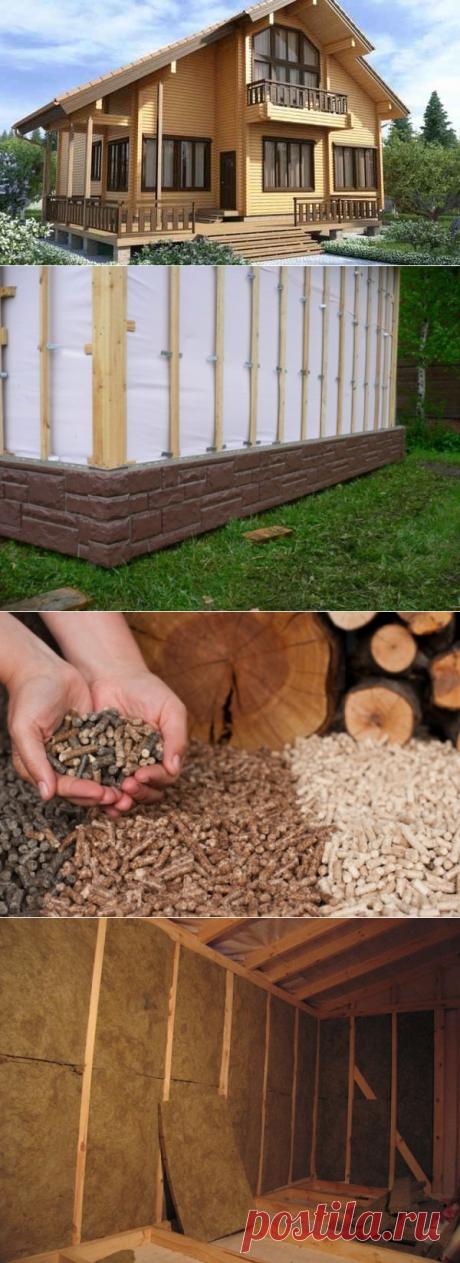 Какие материалы подходят для утепления стен деревянного дома